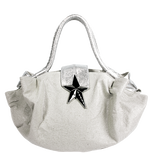 Glittery Beige Hobo Bag