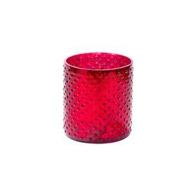 DELIGHT Teelichthalter Glas 8cm, rot