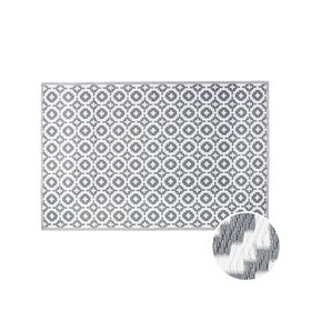 COLOUR CLASH Outdoorteppich Mosaik taupe