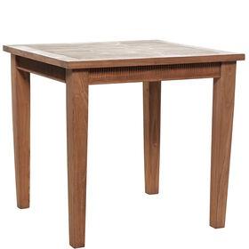 TEAK TIME Tisch m. Schnitzerei 80 x 80cm