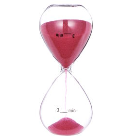 BRUSH HOUR Sanduhr 3 Minuten pink