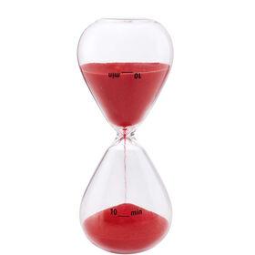 10 MINUTES Sanduhr 10 Minuten rot