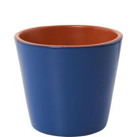 GLAZE Terracotta Blumentopf 11cm blau