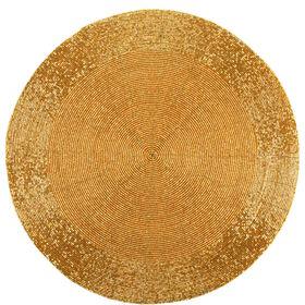 SHINE ON Tischset gold Perlen Ø36cm