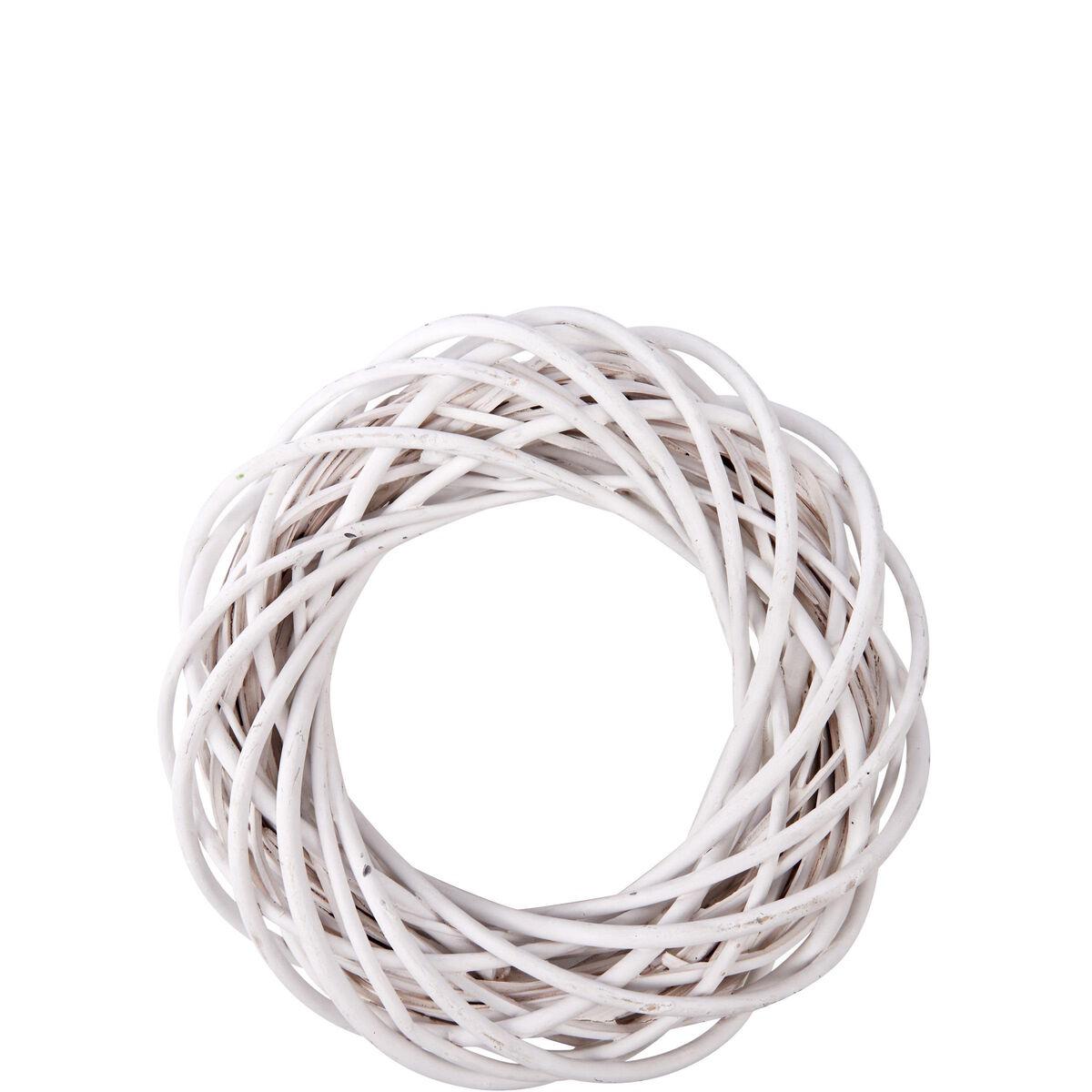 WINTERGREEN Kranz  Ø25cm weiß