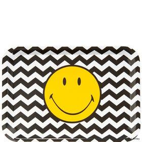 SMILEY Tablett gelb Smiley s/w Wellen