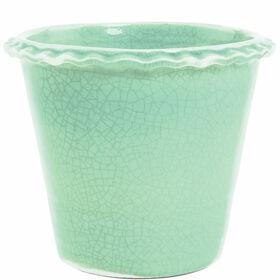 GLAZE Blumentopf 16 cm, grün