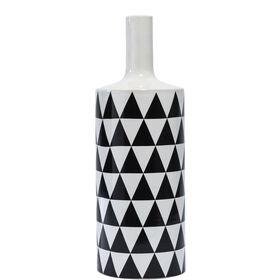 MIAVILLA Vase schwarz/weiß