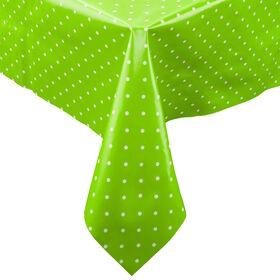 WATERPROOF Tischdecke130x160 Punkte grün