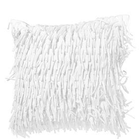 WHITE DELIGHT Kissen m. Fransen 40x40cm