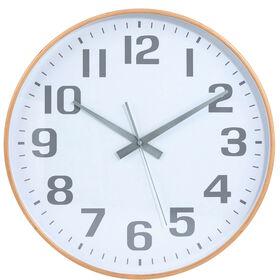 TIMBER TIME Wanduhr Ø 40cm weiß