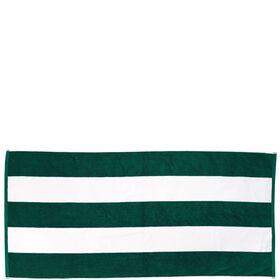 CAPRI LOUNGE Strandtuch grün/weiß 180x80