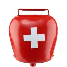 SWISS BELL Kuhglocke rot CH Kreuz Ø12cm