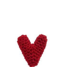 LOVE Strickherzchen mit Pin