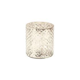 DELIGHT Teelichthalter Glas 8cm, silber
