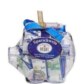 EURO Sparschwein mit Schokolade 60g