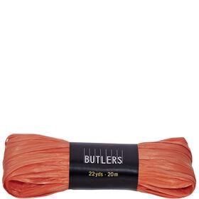 RAFFIA Geschenkband orange 20m