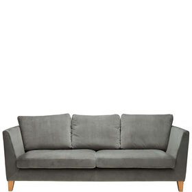 VELVET MOMENTS Samt-Sofa grau