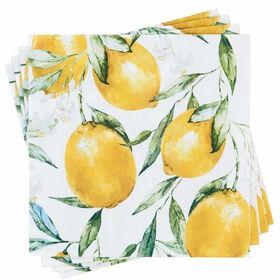 APRÈS Papierserviette Zitronen mit Blätt