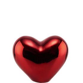 LOVE Deko Herz aus Keramik 8,5cm, rot