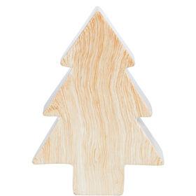 X-MAS Baum Keramik/Holzoptik 22cm