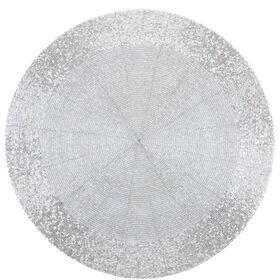 SHINE ON Tischset silber Perlen Ø 36cm