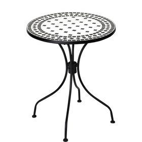PALAZZO Tisch schwarz/weiß
