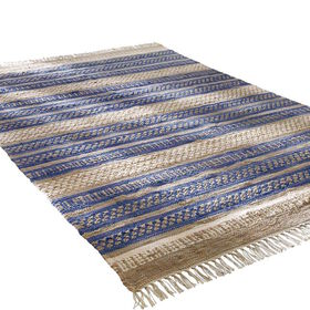 MIAVILLA Teppich blue Stripes 180 x 120