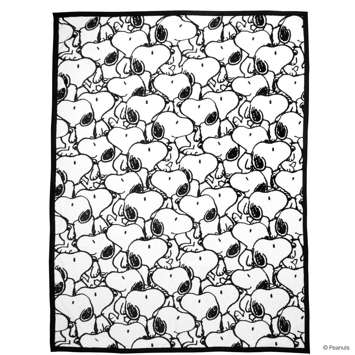 PEANUTS Flanell Decke Snoopy allover
