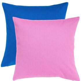 TWO TONES Kissen 50x50cm pink/blau