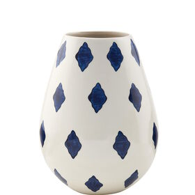 ELECTRIC BLOSSOM Vase weiß/blau