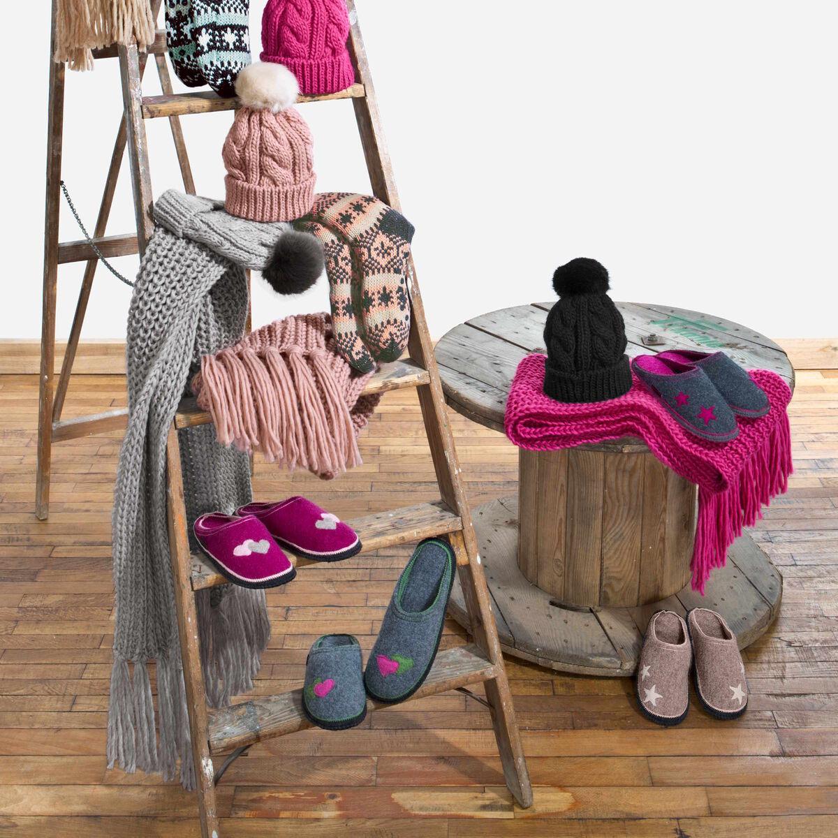 BOUTIQUE Wollfilz Hausschuh pink 39