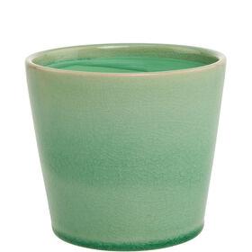 GLAZE Blumentopf mintgrün 11 cm