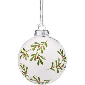 HANG ON Glaskugel 8cm Ornament weiß