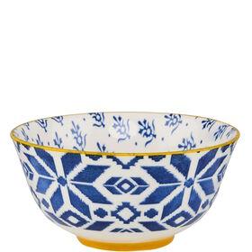 ORNAMENTS Porzellan Schale blau 15cm