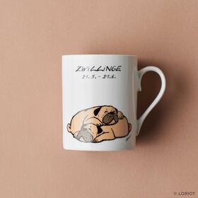 LORIOT Kaffeetasse Zwillinge
