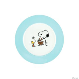PEANUTS Teller Snoopy Ostern blau