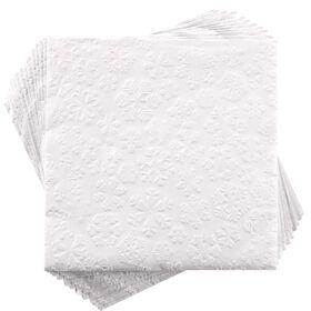 APRÈS Papierserviette Schneeflocke weiß