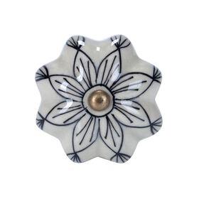 OPEN Möbelknopf Ornament d'blau
