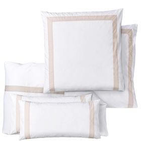 NEW HAVEN Bettw. Set Applik.weiß-beige
