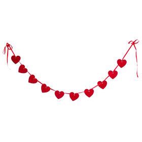 HEART TO HEART Filzgirlande Herz 150cm