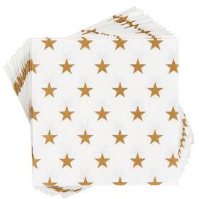 APRÈS Papierserviette Sterne gold