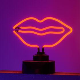 RED LIPS Neon-Leuchte Lippen rot