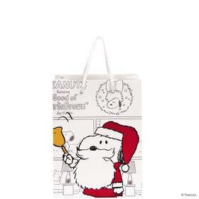 PEANUTS Geschenktasche Santa Snoopy kl