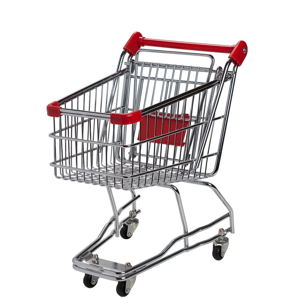 SUPERMARKET Einkaufswagen groß rot