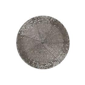 SHINE ON Untersetzer silber Perlen D10cm