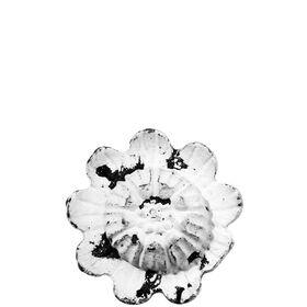OPEN Möbelknopf Metall Blume, weiß