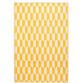 COLOUR CLASH Outdoor-Teppich gelb-weiß