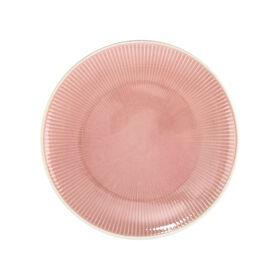 HANAMI Dinnerteller Streifen pink