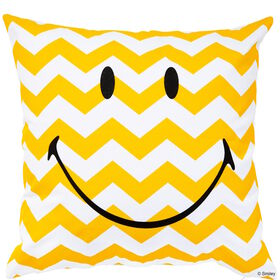 SMILEY Kissen Smiley g/w Wellen 40x40cm